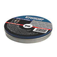 "Erbauer  Stainless Steel Cutting Discs 4½"" (115mm) x 1 x 22.2mm 10 Pack"