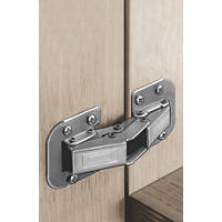 Hafele Steel Easy Mount Hinges 95mm 2 Pack