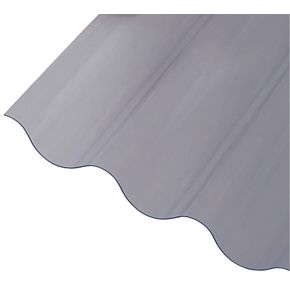Corrapol Corrugated PVC Roof Sheet Clear 2500 x 950mm ...