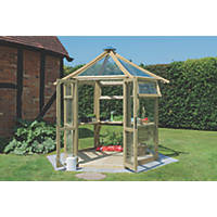 Forest  Wooden Framed Greenhouse 9' x 9'