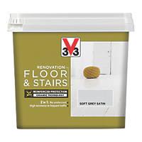 Liberon V33 Floor & Stair Paint Soft Grey 750ml