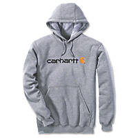 "Carhartt Logo Hooded Sweatshirt Grey Medium 48"" Chest"