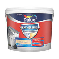 Dulux Weathershield Textured Masonry Paint County Cream 10Ltr