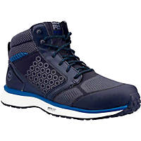 Timberland Pro Reaxion Mid Metal Free  Safety Trainer Boots Black/Blue Size 6.5