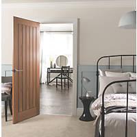 Jeld-Wen  Unfinished Oak Veneer Wooden Cottage Internal Door 2040 x 726mm