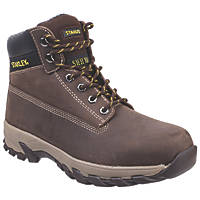 Stanley Tradesman   Safety Boots Brown Size 8