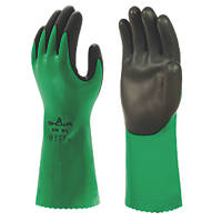 Showa Showa 379 Chemical Gauntlet Green / Black Large