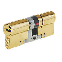 Yale  Platinum 3-Star Euro Profile Cylinder 40-50 (90mm) Brass
