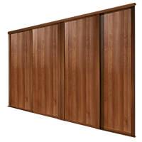 Spacepro Shaker 4 Door Panel Sliding Wardrobe Doors Walnut 2290 x 2260mm