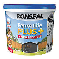 Ronseal Fence Life Plus Shed & Fence Treatment Charcoal Grey 9Ltr