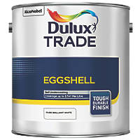 Dulux Trade Solvent-Based Eggshell Paint Pure Brilliant White 2.5Ltr