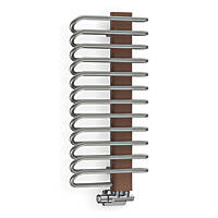 Terma Michelle Designer Towel Rail 780 x 400mm Grey / Silver 1244BTU