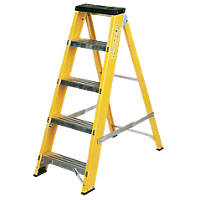 Lyte GFBB5 Swingback Builders Stepladder Fibreglass 5-Tread 1.03m