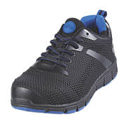 Site Donard   Safety Trainers Black / Blue Size 11