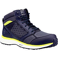 Timberland Pro Reaxion Mid Metal Free  Safety Trainer Boots Black/Yellow Size 8
