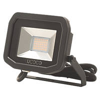 Luceco LFS18B150 LED Slim Floodlight 22W Black Cool White