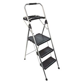 Steel Step Stool With Tray 0 73m Step Ups Screwfix Com