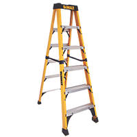 DeWalt Fibreglass 6-Treads Swingback Stepladder 1.83m
