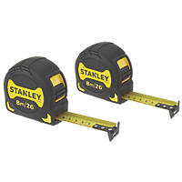 Stanley Grip Tape 8m Tape Measure Set 2 Pieces