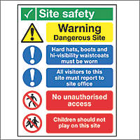 """Site Safety"" Signs 400 x 300mm 50 Pack"