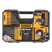 DeWalt Straight & Hex Shank Combination Screwdriver, Drill & Holesaw Bit Set 100 Pieces