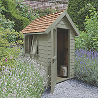 Forest Retreat 4' x 6' (Nominal) Apex Overlap Timber Shed with Assembly