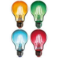 Sylvania Helios Chroma ES A60 Assorted LED Light Bulb 4W 4 Pack