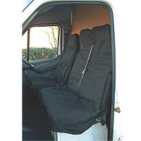 Maypole Universal Van Seat Cover Set Black 2 Pieces