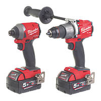 Milwaukee M18FPP2A2-502X FUEL 18V 5.0Ah Li-Ion RedLithium Brushless Cordless Twin Pack