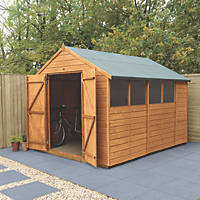 """Forest Delamere 8' x 9' 6"""" (Nominal) Apex Shiplap Timber Shed"""