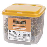 TurboGold PZ Double-Countersunk Multipurpose Screws 4 x 40mm 1000 Pack