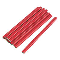 175mm Carpenters Pencils HB 10 Pack