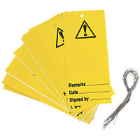 'Warning' Safety Maintenance Tags 10 Pack