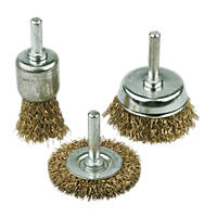 Drill Carbon Steel Wire Brush Set  3 Pcs
