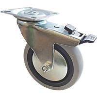 Select TPR Braked Swivel Castor 100mm