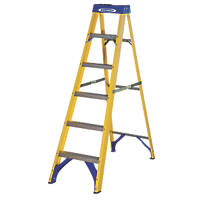 Werner Fibreglass 6-Treads Swingback Stepladder 1.7m
