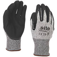 Site KF520 Cut Resistant Gloves Grey / Black Large