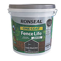 Ronseal One Coat Fence Life Tudor Black Oak 9Ltr