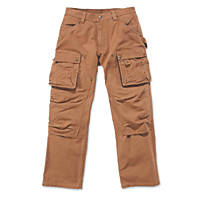 "Carhartt EB219 Multi-Pocket Trousers Brown 38"" W 32"" L"