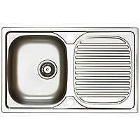 Astracast Aegean Reversible Inset Sink Stainless Steel 1 Bowl 800 x 500mm