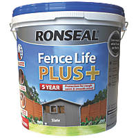 Ronseal Fence Life Plus Shed & Fence Treatment Slate 9Ltr