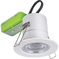 Luceco F-ECO Fixed Cylindrical Fire Rated LED Downlight White 450lm 5W 220-240V