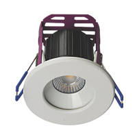 Robus Ramada Fixed  Fire Rated LED Downlight White / Brushed Chrome 590lm 8.5W 220-240V