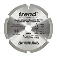 Trend Fibreboard Sawblade 235 x 30mm 6T