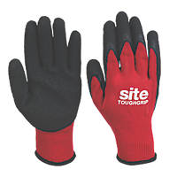 Site Toughgrip Builders Gloves Red / Black Large