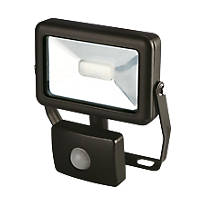 LAP Slimline LED Floodlight with PIR Black 10W Daylight