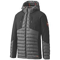 "Timberland Pro Hypercore Hybrid Softshell Insulated Jacket Grey / Black Large 45"" Chest"