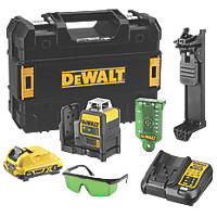 DeWalt DCE0811D1G-GB 12V 2.0Ah Li-Ion XR Green Self-Levelling Multi-Line Laser Level
