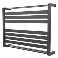GoodHome Loreto Horizontal Water Towel Warmer 600 x 800mm Anthracite 1825BTU