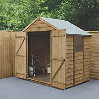 Forest  7' x 5' (Nominal) Apex Overlap Timber Shed with Base & Assembly